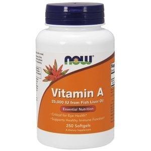 now vitamin a 250 softgels