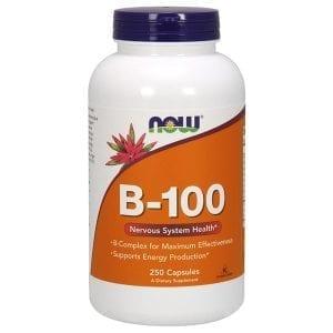 now vitamin b-100 250 capsules