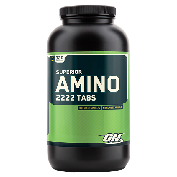 optimum nutrition superior amino 2222-320 tablets