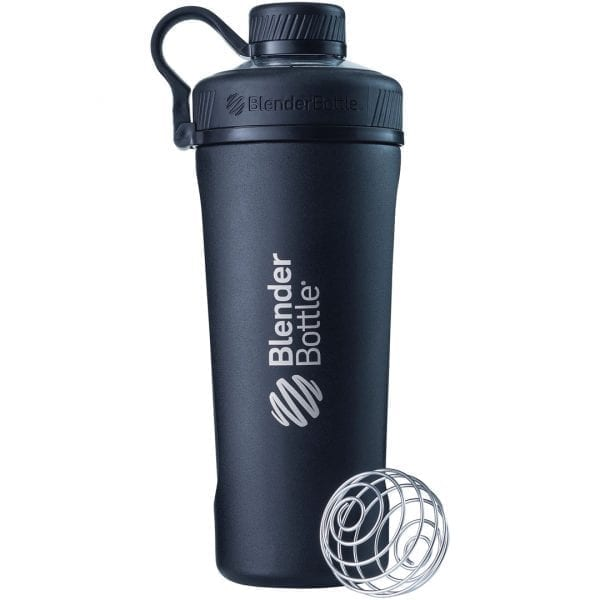 blender bottle stainless steel black