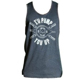 I'll Pump You Up Tank Charcoal