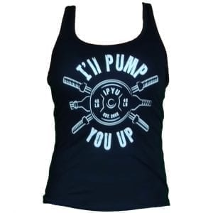 I'll Pump You Up Woman's Tank Black