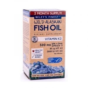 Wiley's Finest Wild Alaskan Fish Oil Vitamin K2