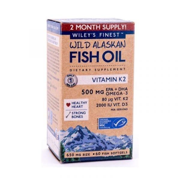 Wiley's Finest Wild Alaskan Fish Oil Vitamin K2