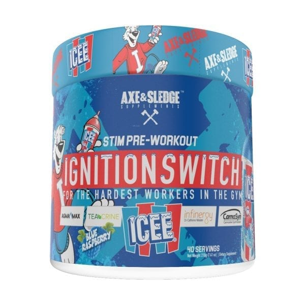 Axe and Sledge Ignition Switch ICEE Blue Raspberry