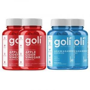 Goli Nutrition Apple Cider and Ashwagandha 4 pack
