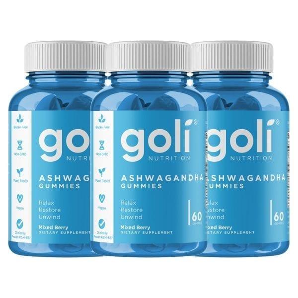 Goli Nutrition Ashwagandha 3 Pack